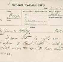 Image of National Woman's Party Congressional Voting Card Collection - 1924.029.001