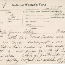 Image of National Woman's Party Congressional Voting Card Collection - 1924.031.001