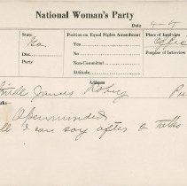 Image of National Woman's Party Congressional Voting Card Collection - 1924.032.001