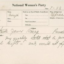 Image of National Woman's Party Congressional Voting Card Collection - 1924.034.002
