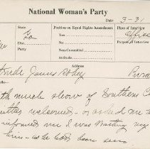 Image of National Woman's Party Congressional Voting Card Collection - 1924.036.001