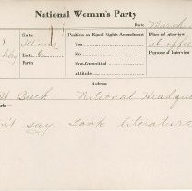 Image of National Woman's Party Congressional Voting Card Collection - 1924.038.001