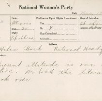 Image of National Woman's Party Congressional Voting Card Collection - 1924.039.001
