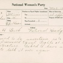 Image of National Woman's Party Congressional Voting Card Collection - 1924.040.001
