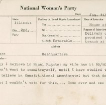 Image of National Woman's Party Congressional Voting Card Collection - 1924.042.001
