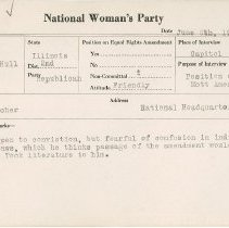 Image of National Woman's Party Congressional Voting Card Collection - 1924.042.002