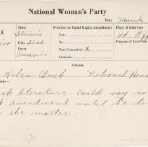 Image of National Woman's Party Congressional Voting Card Collection - 1924.044.001