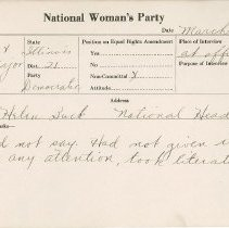 Image of National Woman's Party Congressional Voting Card Collection - 1924.044.002