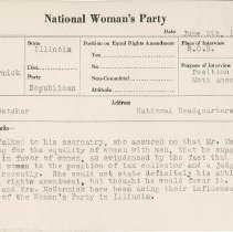 Image of National Woman's Party Congressional Voting Card Collection - 1924.045.001