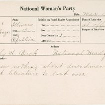 Image of National Woman's Party Congressional Voting Card Collection - 1924.046.001