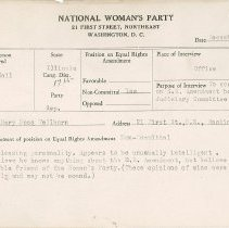 Image of National Woman's Party Congressional Voting Card Collection - 1928.004.001
