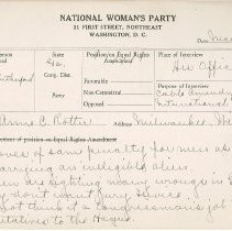 Image of National Woman's Party Congressional Voting Card Collection - 1930.003.001