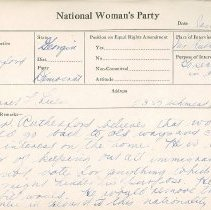 Image of National Woman's Party Congressional Voting Card Collection - 1931.006.001