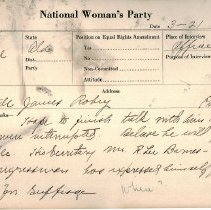 Image of National Woman's Party Congressional Voting Card Collection - 1925.003.001