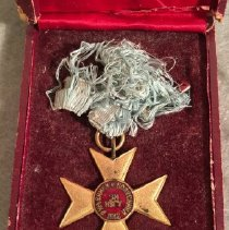 Image of 00.17.1A,B Medal, Overseas Service, detail
