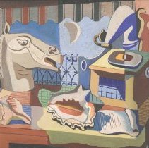 Image of Matulka, Jan - Still Life with Horse Head and Phonograph