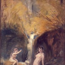 Image of Eilshemius, Louis Michel - Two Nudes by a Waterfall