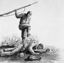 Image of Ben Steele,Death March or Exhausted POW Death March (Joe 803 Eng),charcoal