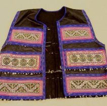 Image of Sao Vang,Money vest (Tshos Khuam),ca1950-59,Hmong,Cotton/Hempcloth