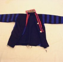 Image of Sao Vang, Girls Jacket,Pants and Apron, White Hmong,Thailand,1975, Cotton