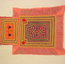 Image of See Moua, Baby Carrier, 1974, Hmong, Cotton/silk