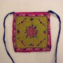 Image of Nhia Lee, Money purse, ca1960s,White Hmong, Sam Nuea, Laos,Cotton/sil
