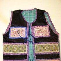Image of Va Vang, Money vest, Sam Neua, Laos, Hmong, 1973, Fabric