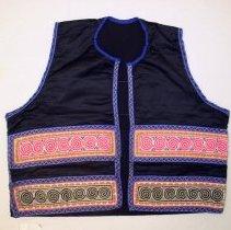 Image of Mai Thao, Money vest, 1969, Sam Neua, Laos, Hmong, Cotton/Silk