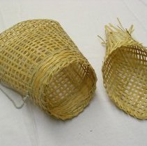 Image of Artist unknown, Basket, 1990, Lao Hmong, Woven bamboo