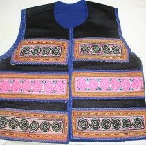 Image of Lao Vang Chong, Money vest, Sam Neua, Laos, Hmong, 1950s, Fabric