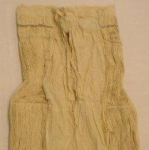 Image of Lo Mee Ly,Funeral skirt (tiab dawb),Sam Neau, Laos,Hmong,1920-30, Muslin