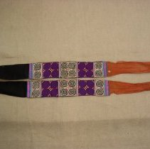 Image of Mai Moua, Sash, ca1930, Sam Neua, Laos, Cotton applique