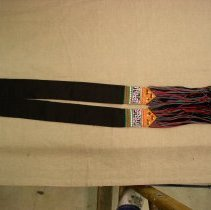Image of Lo Mee Ly, White Hmong Tail Sash, Cotton fabric/weaving