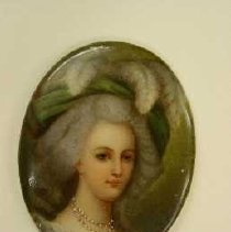 Image of Artist unknown, Oval Cameo Portrait of Marie Antoinette,18thcent,Porcelain