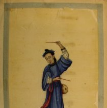 Image of Unknown,Hand-painted early19thCent.pages(performer),Chinese,milk paint/rice