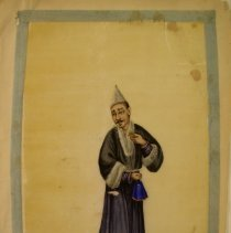 Image of Unknown,Hand-painted early19thCent.pages(abbot),Chinese,milk paint/ricepa