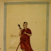 Image of Unknown,Hand-painted early19thCent.pages(farmer),Chinese,milk paint/ricepa