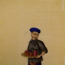Image of Unknown,Hand-painted early19thCent.pages(peddler),Chinese,milk paint/ricepa