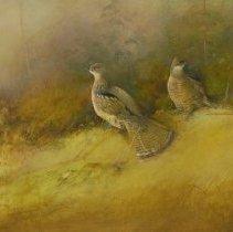 Image of Tom Sander, Grouse, Oil on Board, 19x29in