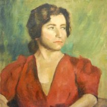 Image of Brown, Frances Carroll - Lady in Red