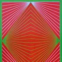 Image of Richard Anuszkiewicz, Diamond Chroma, 1965, Serigraph