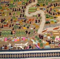 Image of Wife of Nkaj Zeb Vaj, nephew of Cher Moua Thao,StoryCloth,Hmong,1988,Cotton