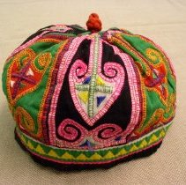 Image of Sao Vang, Boy's Hmong Hat, 1976, Hmong, Embroidery