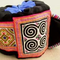"""Image of May Yang, Girl's """"Chicken"""" Hat, 1988, Hmong, Cotton"""