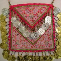 Image of Artist unknown, Money purse, Hmong, Synthetic fabric, coins