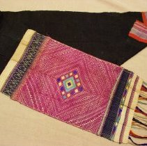 Image of Artist unknown, Pah Sabai (Shawl), Hmong, late19thCent, Cotton/Silk