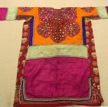 Image of Artist unknown, Woman's dress, Baluchistan, Afghanistan, Cotton/Mirrors