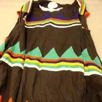 Image of Artist unknown, Tibetan Buddhist Lama's robe and neckpiece, Hmong, Cotton