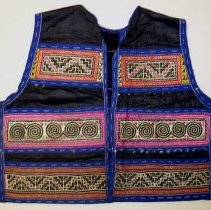 Image of Lo Mee Ly, Vest, Sam Neua, Laos, Hmong, 1929, Silk/Cotton