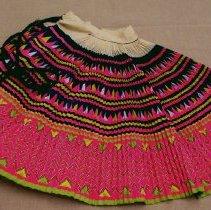 Image of Vang Kao, Wrap skirt, Modern Hmong, 1987, Hemp fabric